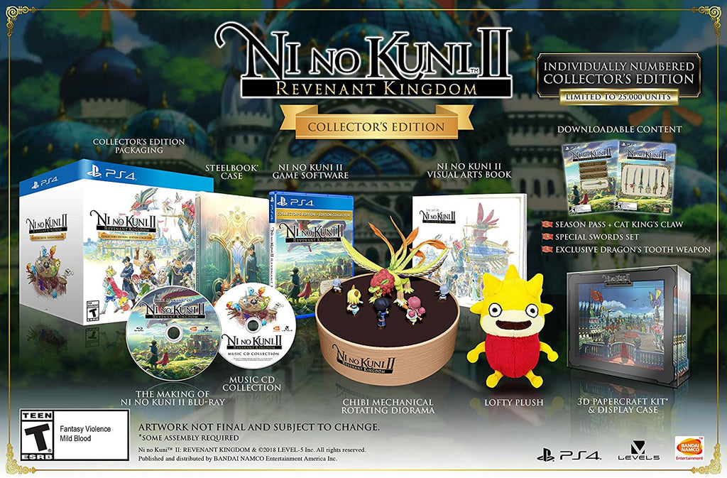 Ni No Kuni II: Revenant Kingdom - PlayStation 4 Collector's Edition R1