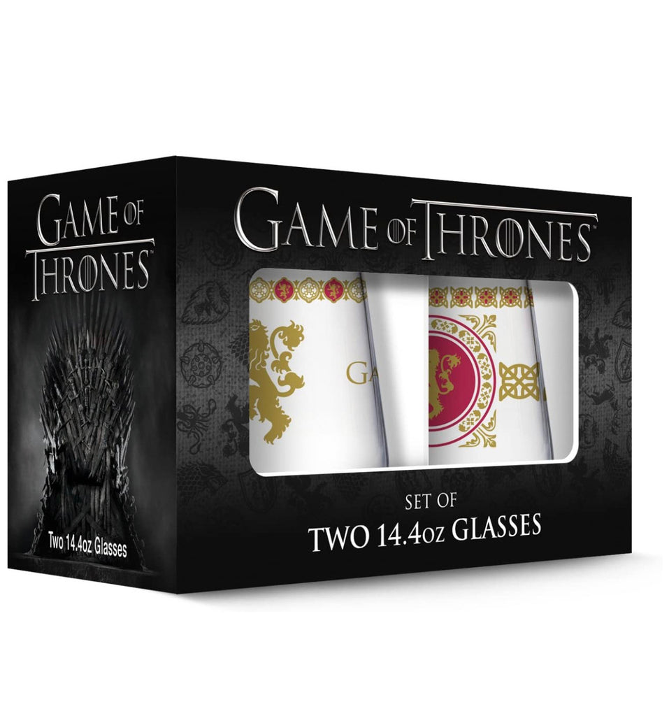Game Of Thrones Set Of Two Glasses