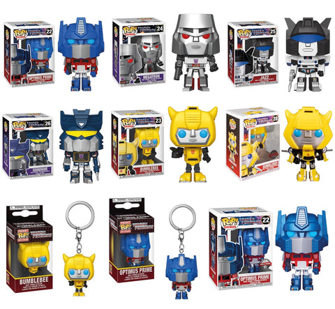 Funko Pops Transformers (Set) + 2 Pop Keychain