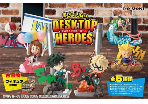 My Hero Academia Desktop Heroes 6 Mini Figures