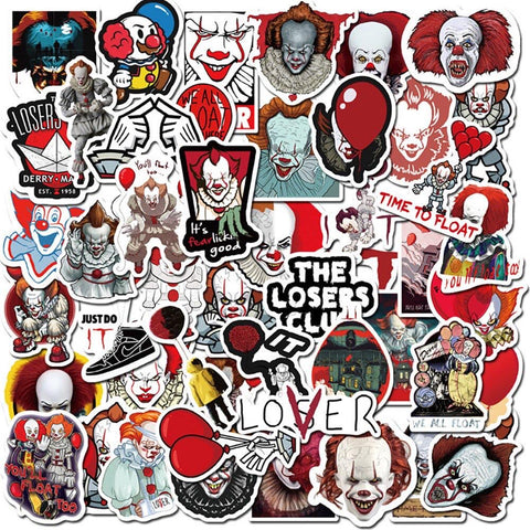 50 Pieces IT Pennywise Stickers