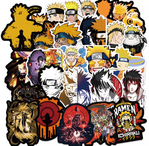 100 Pieces Naruto Shippuden Stickers