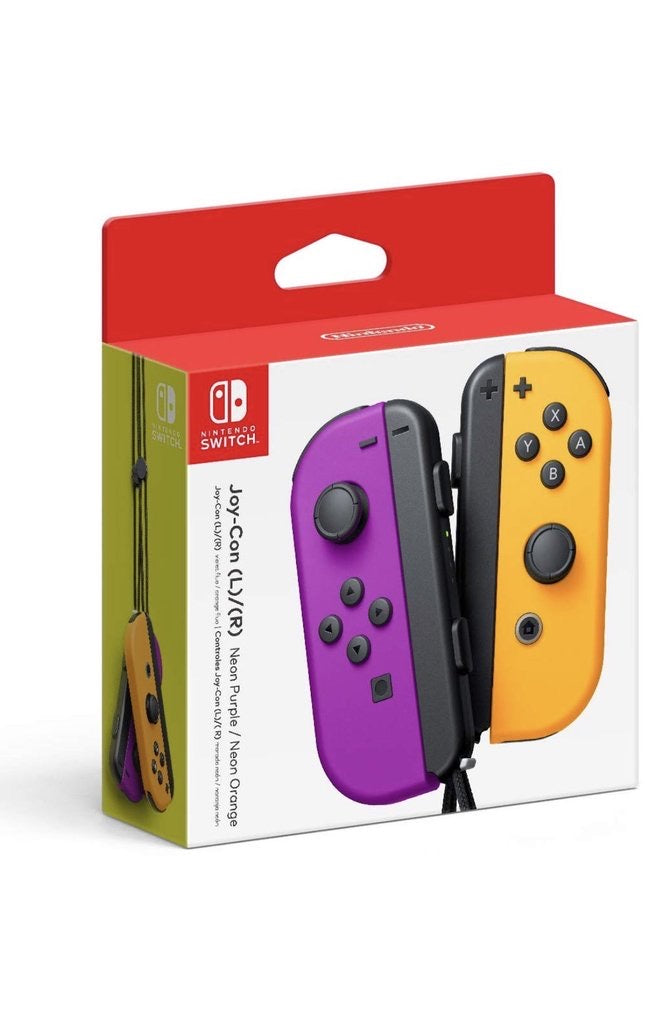 Nintendo Neon Purple/ Neon Orange Joy-Con (L/R) - Switch