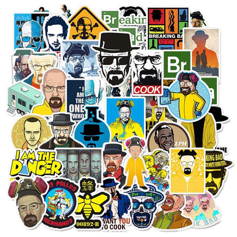 50 Pieces Breaking Bad Stickers