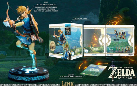 The Legend of Zelda Breath of the Wild Link Statue (Light Up Function) - Size: 25 cm