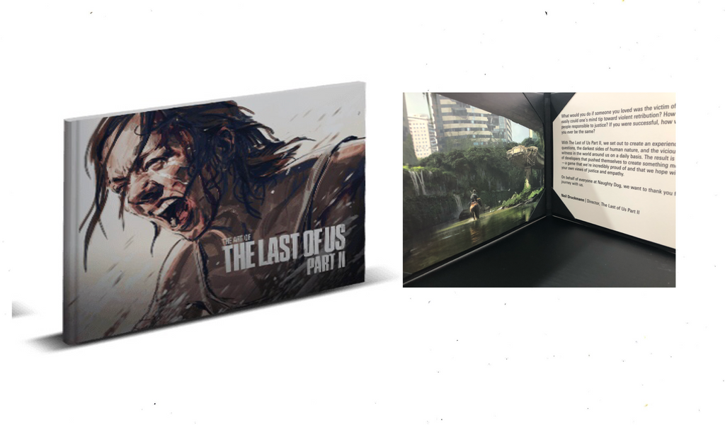 Last Of Us 2 Mini Artbook + Lithograph Art Letter