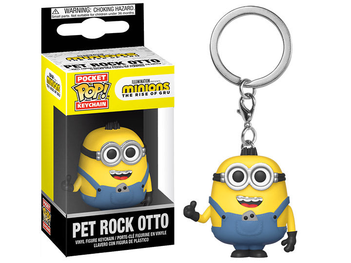 Pop Keychain Minions Pet Rock Otto