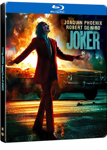 DC Comics JOKER Steelbook Blu-ray (Region-Free European Import Steelbook)