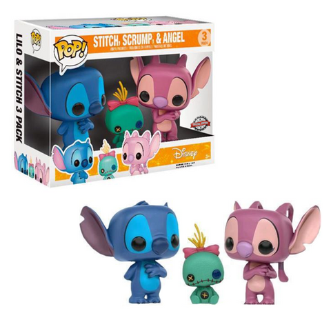 Funko Pop Disney Stitch , Scrump & Angel (Special Edition)