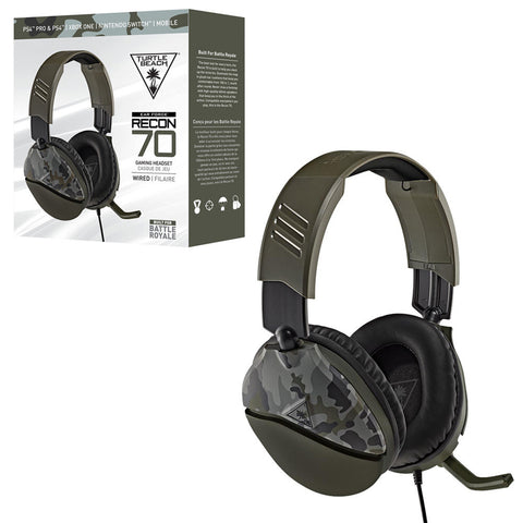 Turtle Beach Recon 70 Headset Wired For PS4 ' Xbox One ' Nintendo Switch
