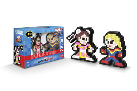 Pixel Pals : Marvel vs. Capcom Infinite Captain Marvel vs. Chun Li