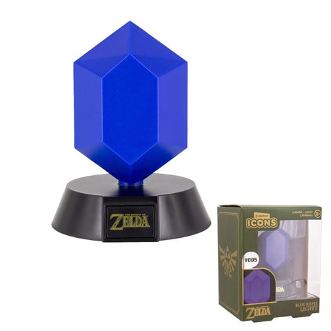 Paladone Icons Lampe The Legend Of Zelda Blue Rupee Light
