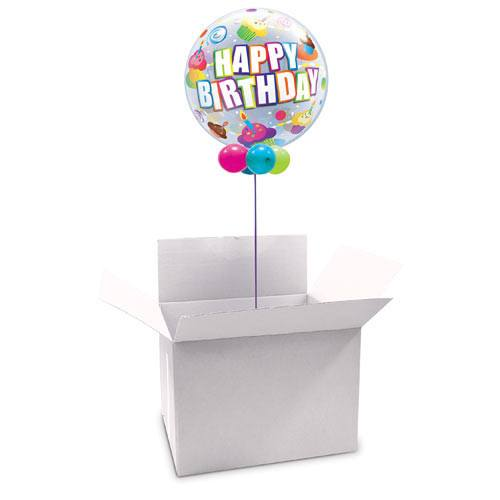 White Bubble Balloon Box (Pack of 1)
