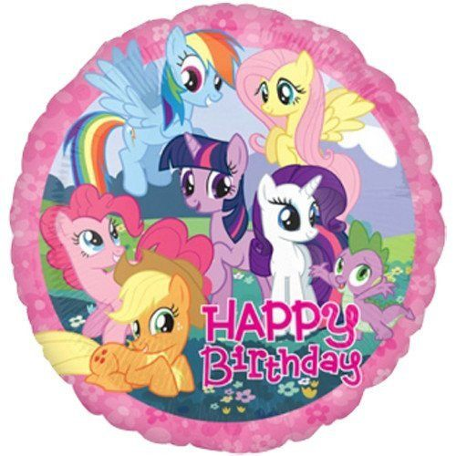 18 Inch My Little Pony Happy Birthday Foil Balloon (Pack of 1)