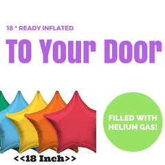 18 Inch Star Foil Balloon (Ready Inflated With Helium Gas)