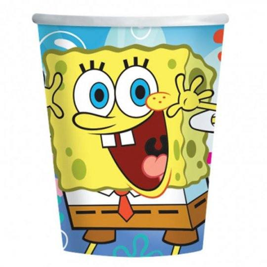 Child's Spongebob 8 Pack of Paper Cups