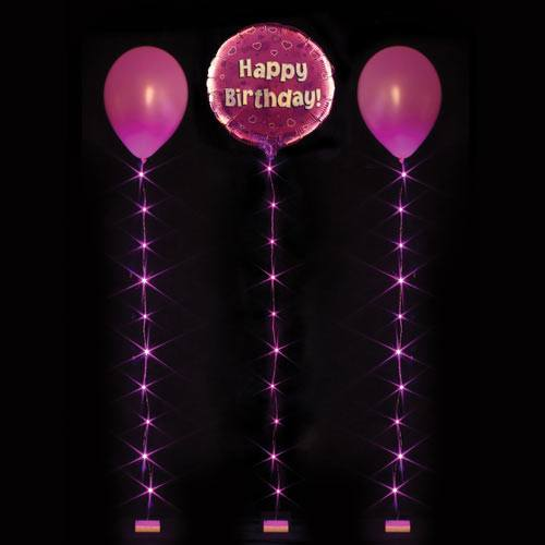 1m Balloonlite 10 Light Set Fuchsia