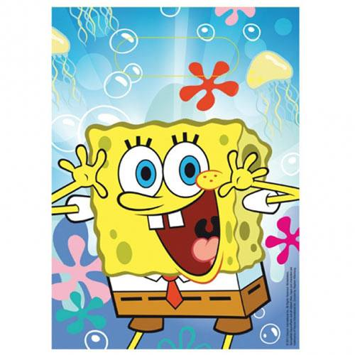 Child's Spongebob 6 Pack of Plastic Party Bags