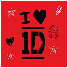 Napkins - Child's I Love 1D 16 Pack Of Paper Napkins