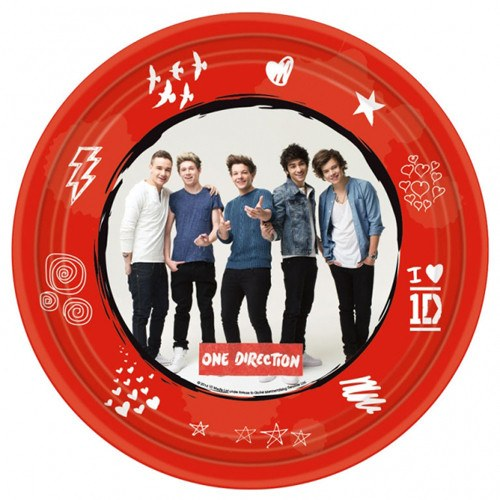Child's 1D 8 Pack of Paper Plates