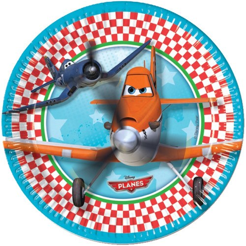 Child's Disney Planes 8 Pack of Dusty Paper Plates