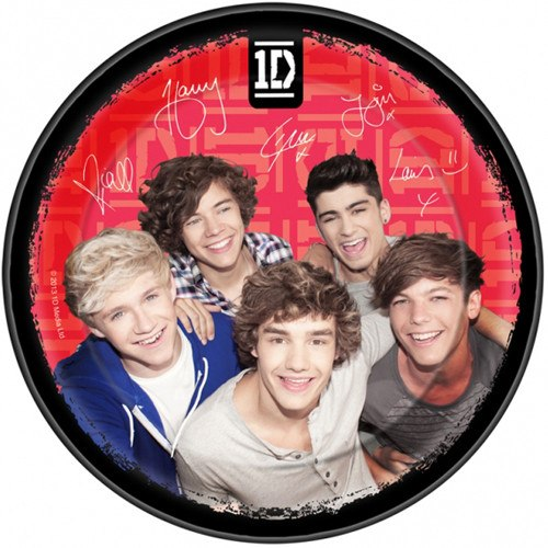 Child's One Direction 8 Pack of Paper Plates