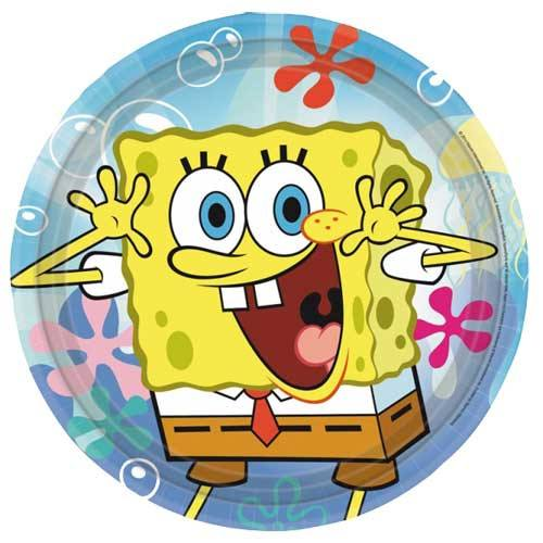 Child's Spongebob 8 Pack of Paper Plates