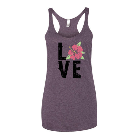 Hibiscus LOVE Women's Tank Top
