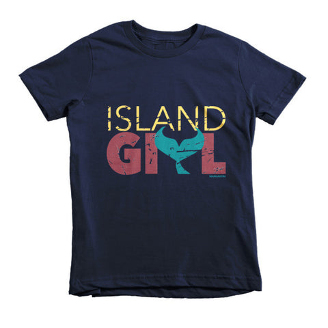 Island Girl Mermaid Tail Kids T-Shirt