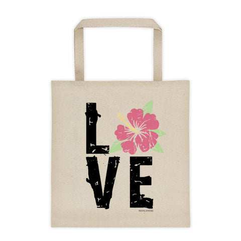 Hibiscus LOVE Tote bag
