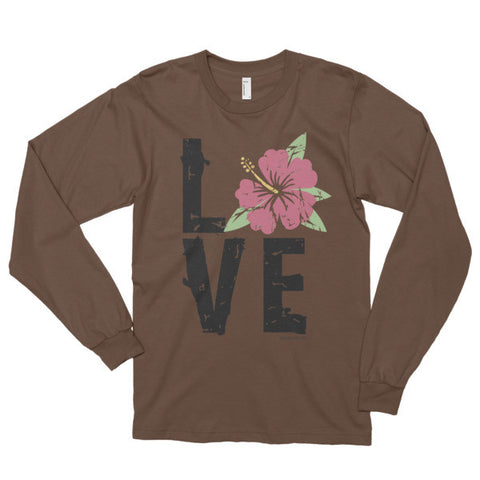 Hibiscus LOVE Long Sleeve Shirt