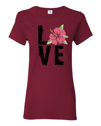 Hibiscus LOVE Women's T-Shirt