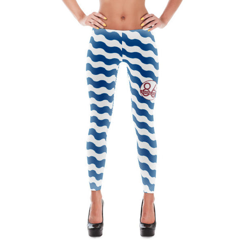 Ocean Wave Leggings