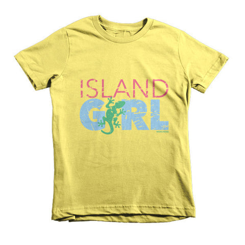 Island Girl Gecko Kids T-Shirt