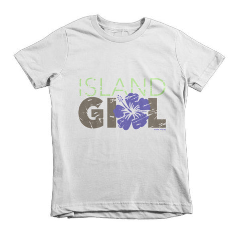 Island Girl Hibiscus Kids T-Shirt