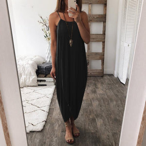 Laurette - Airy Maxi Dress - Black / S (4-6 US) (8 UK)