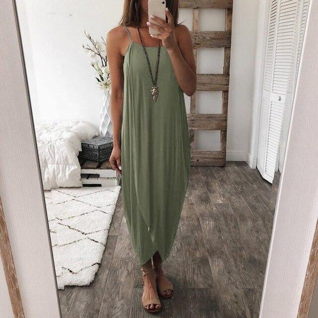 Laurette - Airy Maxi Dress - Green / S (4-6 US) (8 UK)