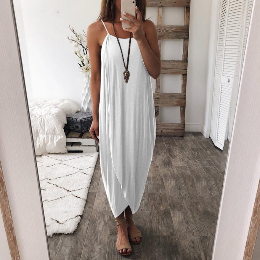 Laurette - Airy Maxi Dress - White / S (4-6 US) (8 UK)