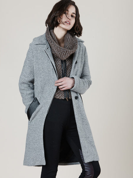 SC8036 Heather Grey Coat (Online Only)