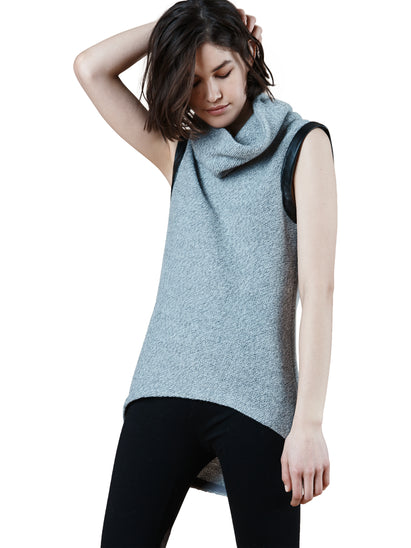 SC8031 Sweater Cowl Neck Tunic