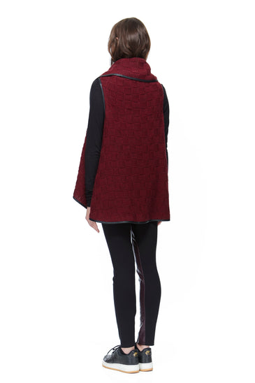 SC8112 Check Sweater 2-in-1 Cape