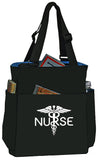 Nurse Quad Access Caduceus Shoulder Tote Bag Handbag Personal Organizer - The Nurse Place