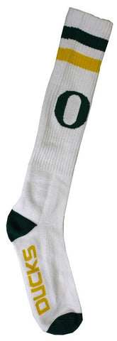 Men's Oregon Ducks NCAA White Knee High Tube Socks