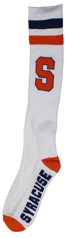 Men's Syracuse Orangemen NCAA White Knee High Tube Socks