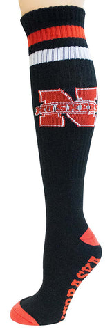 Men's Nebraska Cornhuskers NCAA Black Knee High Tube Socks
