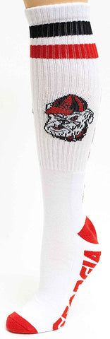Men's Georgia Bulldogs NCAA White Knee High Tube Socks