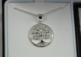 Tree of Life Round Pendant Silver Plated 18 Inch Necklace - The Nurse Place - 2