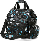 Nurse Mates Black Turquoise Circles Ultimate Nursing Bag - Great Gifts For Nurses