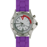Think Medical Braided Silicone Nurse's Watch - Purple