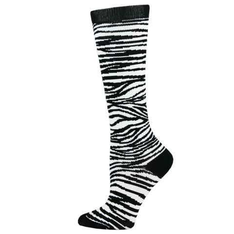 Think Medical Zebra Stripes Womens Compression Socks for Nurses